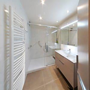 salle de bain réalisée par un plombier sur Ermont